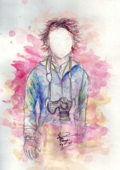 Self potrait on watercolor by Vadlicious