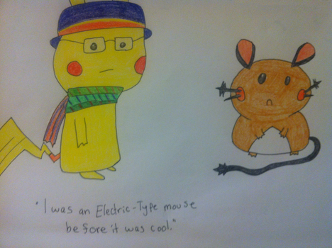 Hipster Pikachu doesn't like Dedenne by Kzar5678
