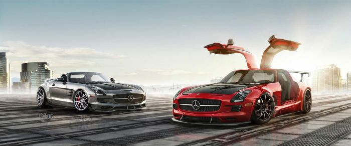 Mercedes-Benz SLS AMG GT And SLS AMG Roadster Work by Faik05