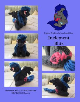 Knitted Plushies - Inclement Blitz (OC) by haselwoelfchen