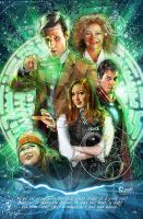 11th Doctor, Amy, Rory, River by jonpinto