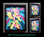 Stained Glass Fluttershy Shadowbox by The-Paper-Pony