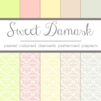 Free Sweet Damask: Damask Patterned Papers by TeacherYanie