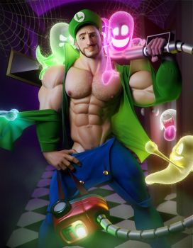 Steve Raider - Luigi's Mansion by albron111