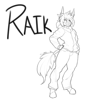 Gaea Designs - Guest Character - Raik by ZephyrFlash