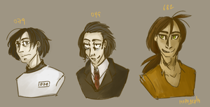 human scps sketches by ND-painter