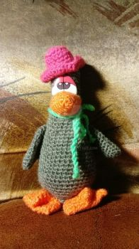 Amigurumi Goose in hat by AmiPavouk