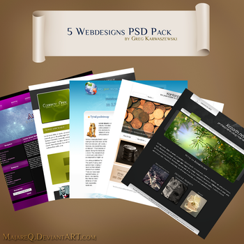 5 Webdesigns PSD Pack by majareq