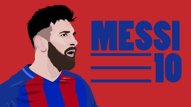 Messi Vector Illustration by fahimed