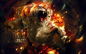 Tiger Attack by BoiUchiha