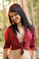 Tara - red shirt 1 by wildplaces
