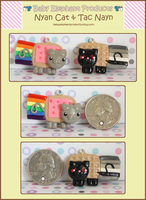 Nyan Cat and Tac Nayn by moofestgirl