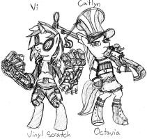 VInyl and Octavia, Peacekeepers of Piltover by Kurk44