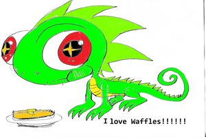 Waffle loves Waffles by Armonsterz