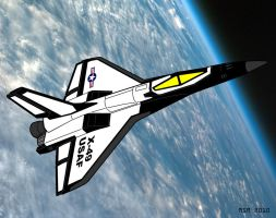 X-49 the Aerospace Fighter by RedSpider2008