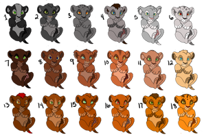 Lion Cub Adoptables 3 **5 LEFT** by MissBrink