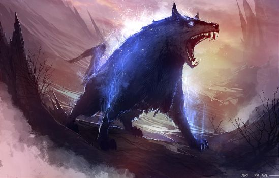 Mystic Wolf by TSRodriguez