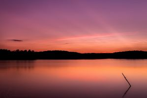 Sunset On The Lake by Alyphoto
