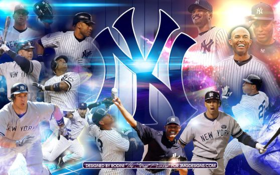 NY Yankees Greats Collage by rodinistreetpicasso