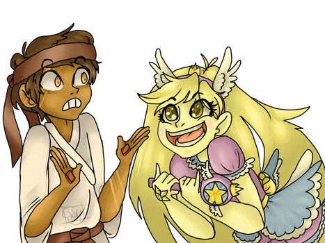 Star And Marco As Gems by BallOfAnger