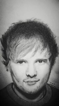 Ed Sheeran Pencil Drawing by ZeddiXTree