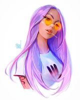 Orange spectacles by rossdraws
