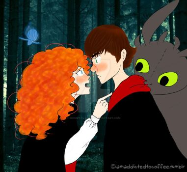 Merida-and-Hiccup3 by Moony-14-Lucky