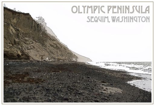 Olympic Peninsula Postcard by Vironevaeh