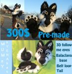[SOLD] Husky Partial Premade by MumzyHyenaBat