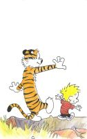 Calvin and Hobbes by MaelGad