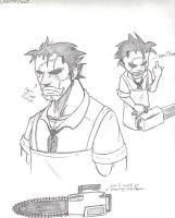 Leatherface Sketches by Phycosmiley