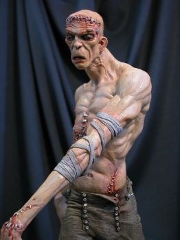 Frankenstein painted close up by MarkNewman