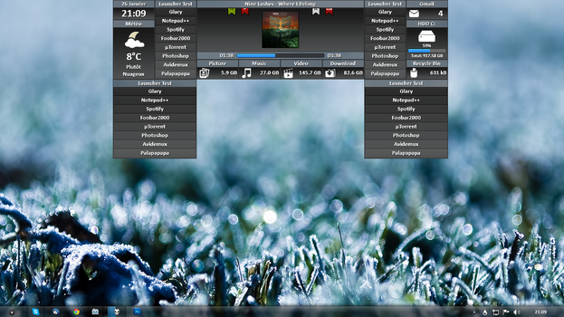 WIP NoName for Rainmeter Preview n2 by kaz28100