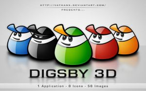 Digsby 3D Icons by Vathanx