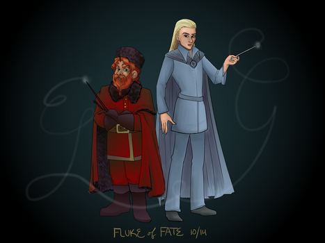 Legolas and Gimli, Triwizard Champions by FlukeOfFate