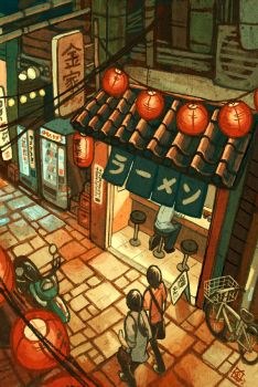 Ramen in the Alley by KerriAitken