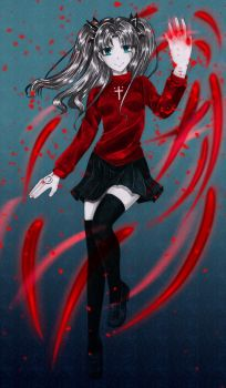 .Commission. Tohsaka Rin by Noire-Ighaan