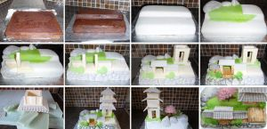 Ornamental temple cake Stages by ginas-cakes