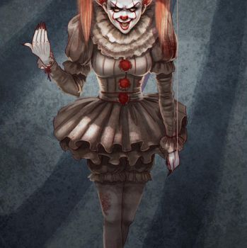 Speed Paint Pennywise (female version) by Prywinko