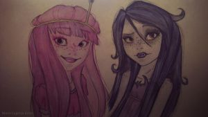 Marceline and Princess Bubblegum by Afro-Muffin92