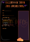 Halloween Town Job Application Template by VerticanJustice