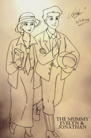 Evelyn and Jonathan [The Mummy 1999] by SidselC
