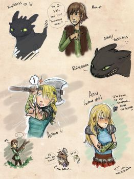 Httyd sketch dump color by Ticcy