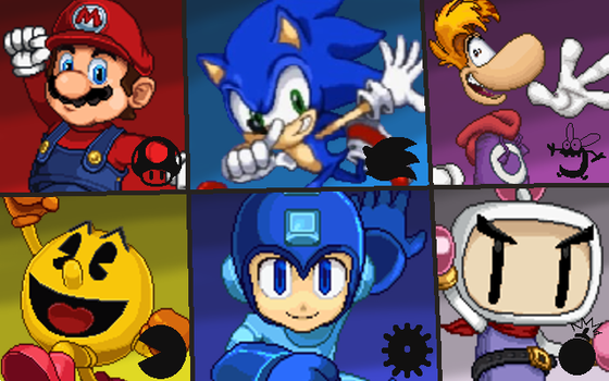 6 Heroes in Action Wallpaper by Mighty355