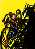 Venom and the spider by Emmedi