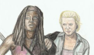 Michonne and Andrea together by gagambo