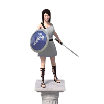 Female Character model by crispychaney