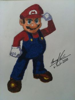 Mario colored with dots by Soulmastah