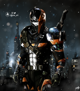 Deathstroke Digital Painting by jeransome