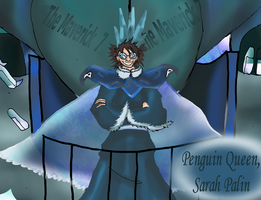 Sarah Palin Penguin Queen by horyokun